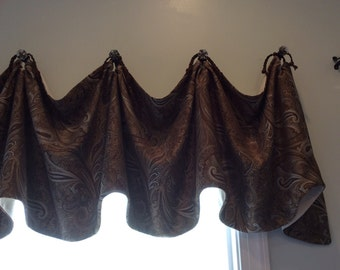 Custom window valance, window treatment, valance, toppers, window decor, home decor, curtains