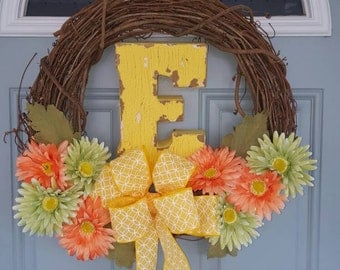 Personalized Spring Wreath