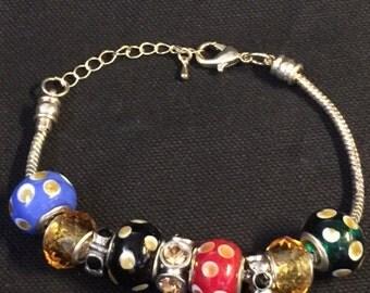 Adjustable European Bead Bracelet