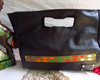 Black leather bag, black women bag, women leather handbag, leather casual bag, women casual, unique leather handbag, leather shoulder bag