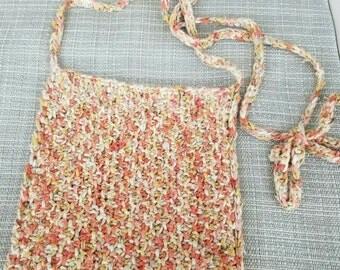 metallic coral bag