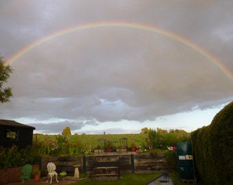 Rainbow  Print In A Stunning English Countryside Setting