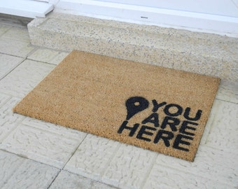 You are here doormat - 60x40cm - Map Pin