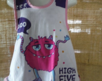 HI 5 Monster Reversible pinafore sz 6 months to 18 months/2 years