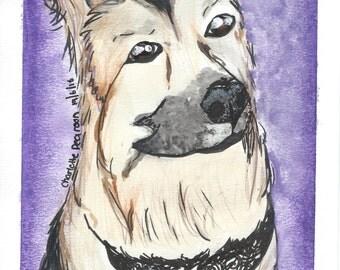 German Shepherd Original Painting