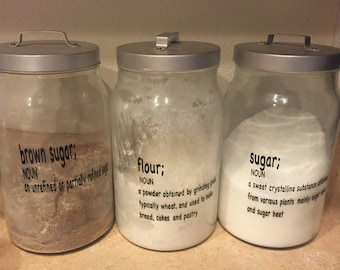 Kitchen Container Labels Set of 6