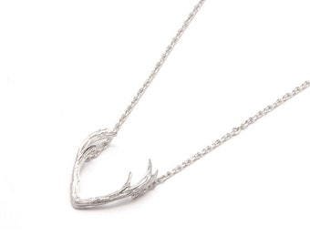 Necklace HORNS-collar horns, Silver's law, sterling silver necklace