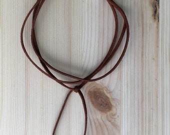 Brown Leather Tie Choker