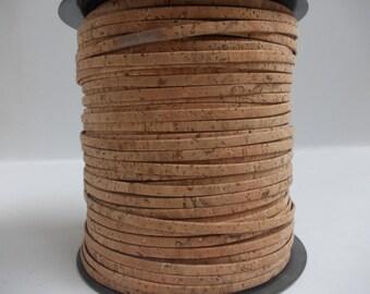 Natural Brown Portuguese Cork,Cork Strip 3mm(1 Meter)