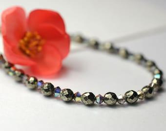 Pyrite gemstone necklace