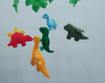 Baby crib mobile, Baby felt mobile, Baby nursery mobile,Baby Mobile, Baby dinosaurs mobile, Baby colorful dinosaurs mobile