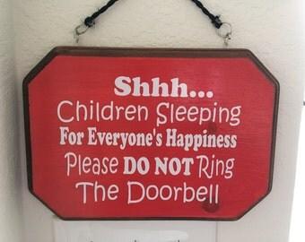 Children Sleeping Sign