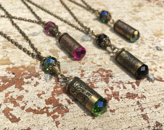 Bling Etched 9mm Bullet Necklace