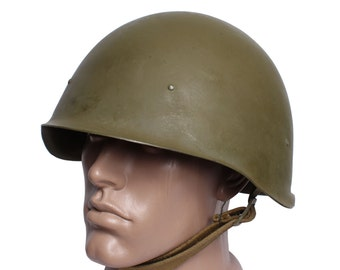 "Soviet military metal helmet SSH-40 ""Kaska"" WWII"
