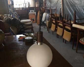 Mid Century Modern Globe Swag Lamp