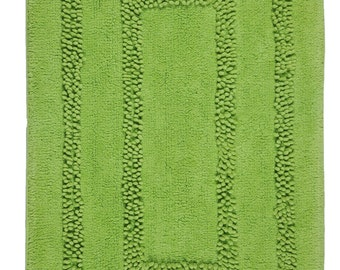 Hand Made Green Cotton Aena Bath Rug/Bath Mat(80cm x 50cm),2 Piece