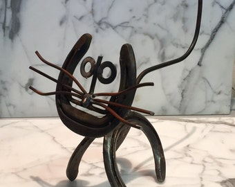 Hand-Made Metal Cat Art
