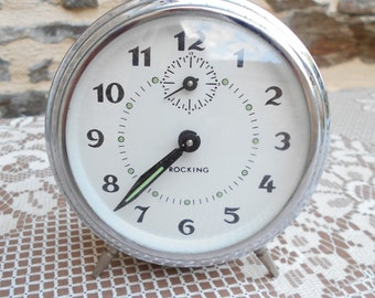 "Vintage French ""Jaz Repetition"" mechanical alarm clock,"