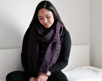 Chunky Open Ended Scarf/Purple
