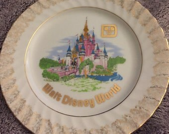 1960's Walt Disney World Souvenir Plate