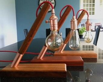 Classic Solid Wood Retro Bedside Light