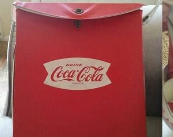 Vintage Coca Cola Small Cooler