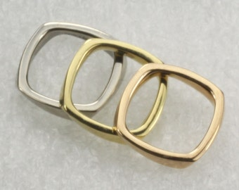 Tiffany & Co. Frank Gehry 18K Tri Gold Torque Rings Size 6 1/4