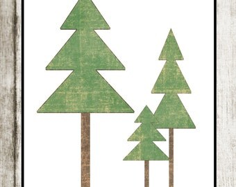 Tree Print: Woodland Theme Nursery Decor