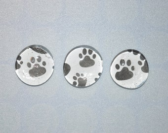 Set of 6 Paw Print Magnets
