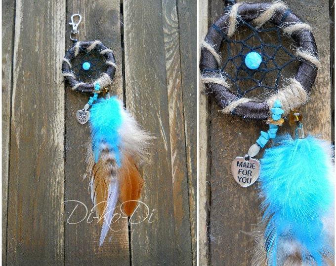 Dream catcher for car, Dream catcher, Dreamcatcher, Feathers, Beads, suspension amulet, pendant car, keychain, bohodecor