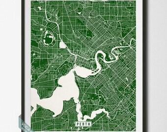 Perth Print, Australia Poster, Perth Poster, Perth Map, Australia Print, Street Map, Australia Map, Western Australia, Independence Day