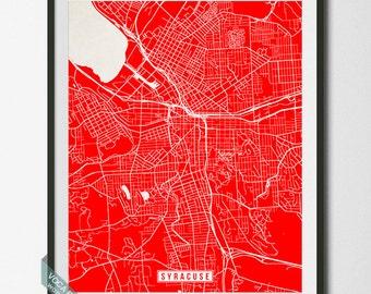 Syracuse Print, New York Poster, Syracuse Map, New York Print, Syracuse Poster, New York Map, Street Map, Home Decor, Christmas Gift