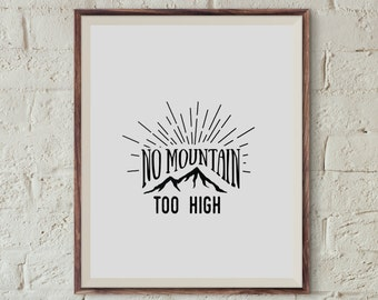 No mountain too high Poster