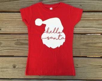Hello Santa Christmas shirt