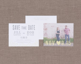 Dandelion Wedding Collection by Paper Daisies, Save the Dates, Modern, SAMPLE SET