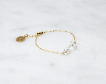 Clear Quartz Chip Bar Bracelet