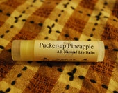Pucker-up Pineapple- All Natural Beeswax Lip Balm, Natural lip balm, Beeswax Lip Balm, Pineapple Lip Balm, Moisturizing Beeswax Lip Balm