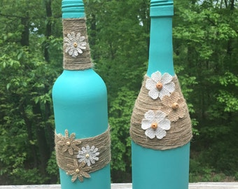 Wine Bottles Repurposed Decor