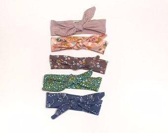 Organic knit headbands, baby headbands, toddler headbands, girl headbands
