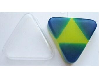 Triangular mold, plastic mold, triangle mold, triangle soap, geometric shape mold, shape mold, lateen mold, soap mold, gumpaste mold