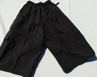 Black and White Thigh Length Shorts