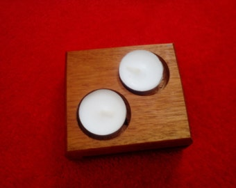 Double tealight holder
