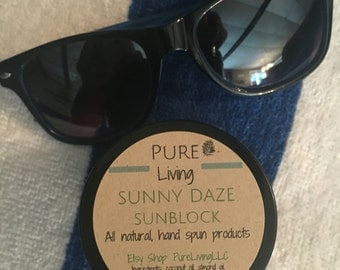 Sunny Daze Sunblock! All Natural with Coconut Key Lime Scent.