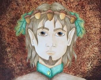 Fantasy painting: Prince autumn