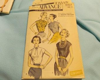 1960 Vintage 8427 Advance Sewing Pattern