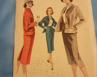 1950 Butterick #7901 size 12  UNCUT