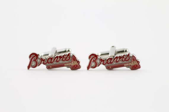 Atlanta Braves Cuff Links -- FREE SHIPPING with USPS First Class Domestic Mail