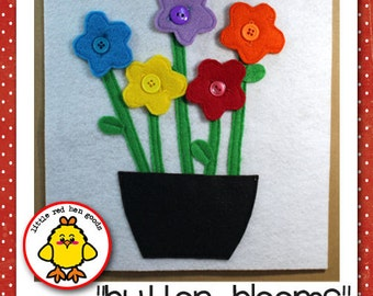 Button Blooms Quiet Book Page