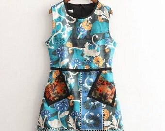 Blue Ambiance Dress