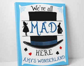 alice and wonderland personalised print